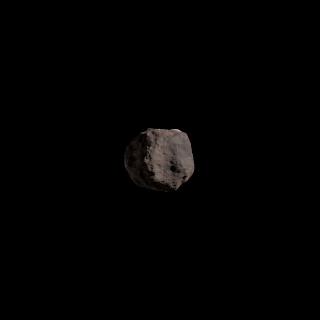 Vue d'artiste de l'astéroïde