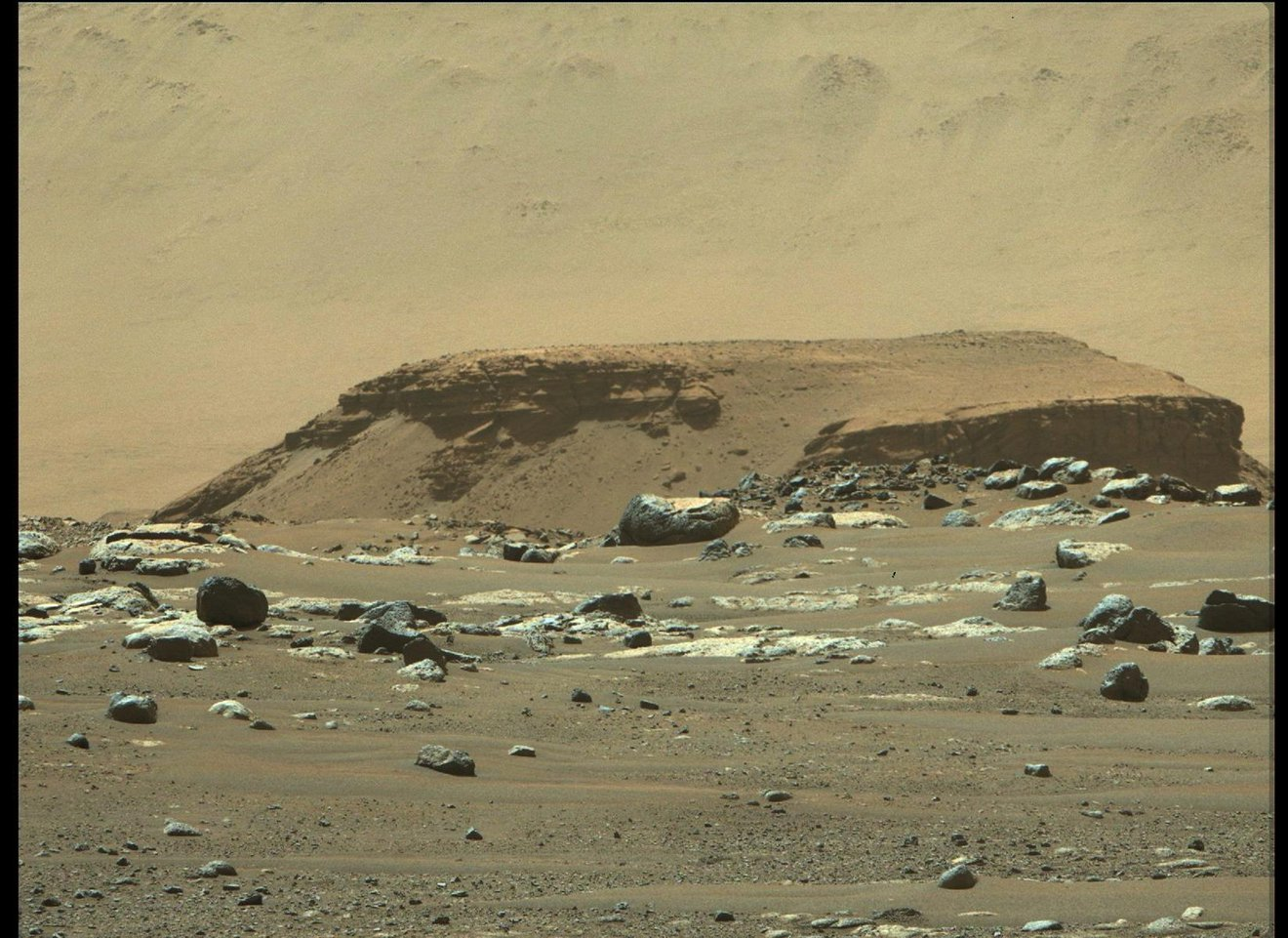 Kodiak formation on the surface of Mars seen by Perseverance.