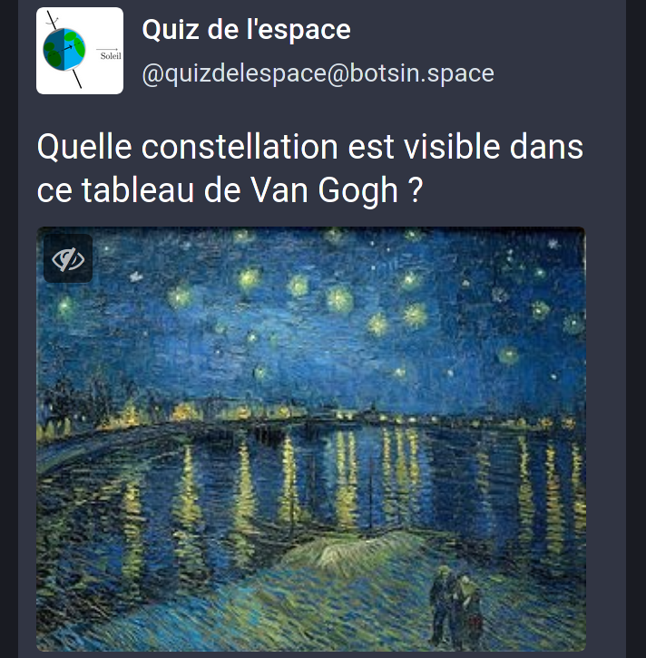 Une question du quiz